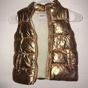 Puffy Metallic Gold Vest